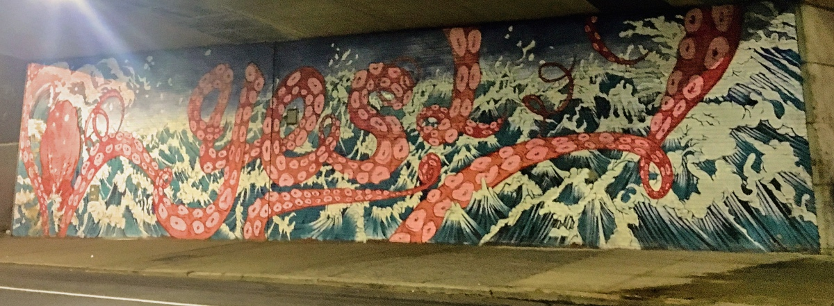Graffiti under Manhattan bridge